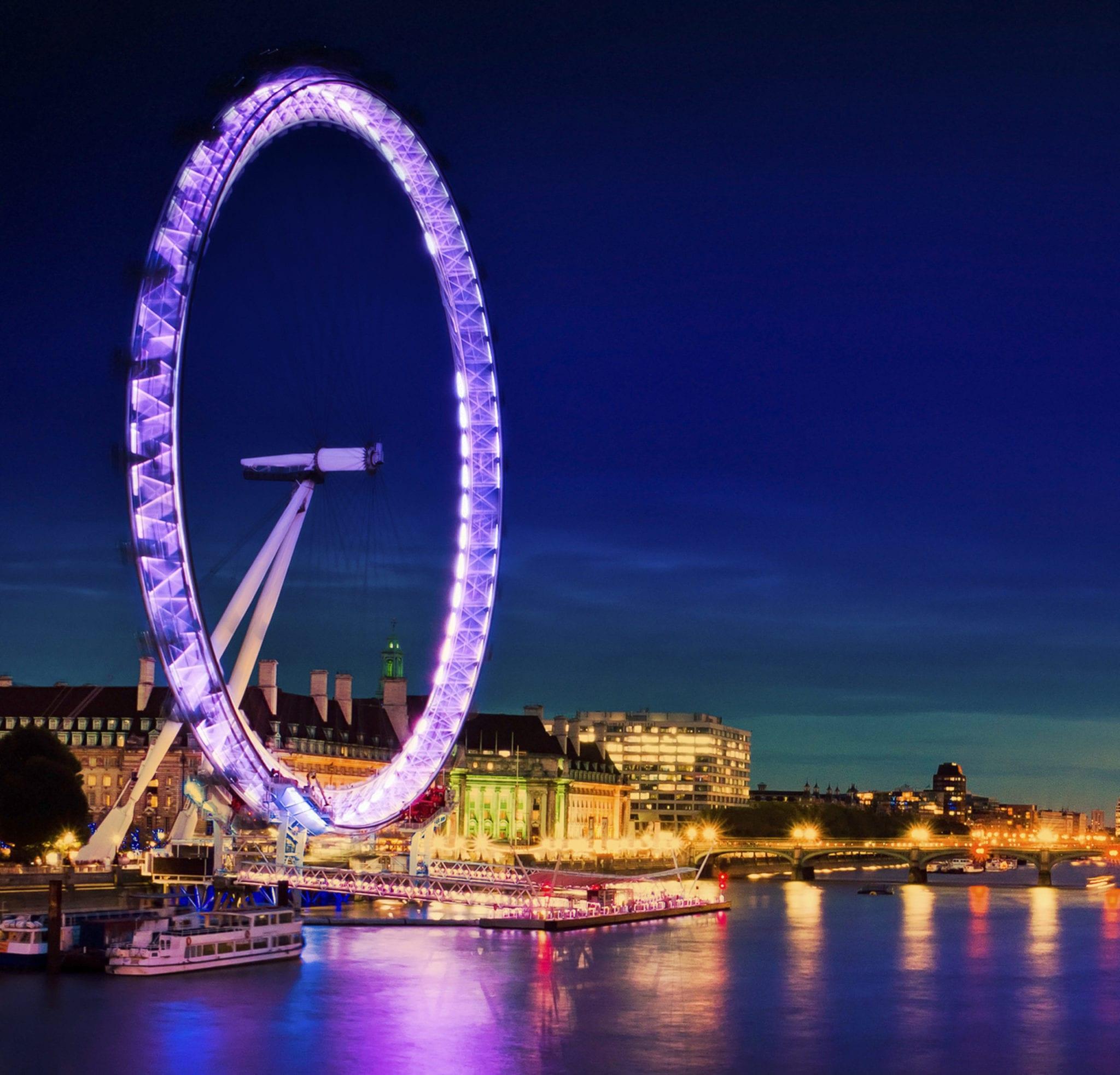London Southbank bei Nacht