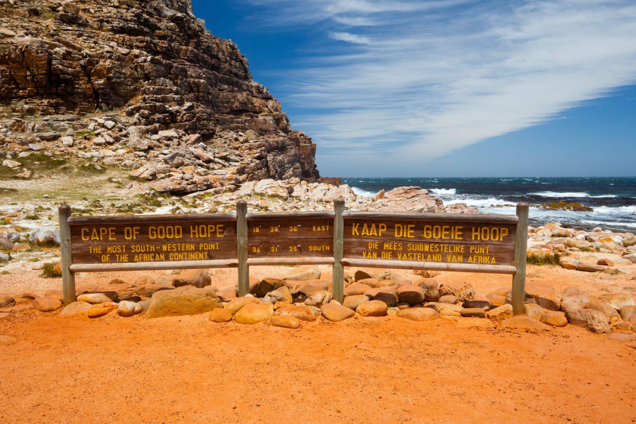 Das Kap der Guten Hoffnung und der Halbinsel